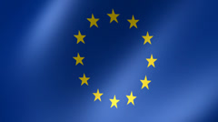 EU Flag in Breeze Looping Animation Stock Footage