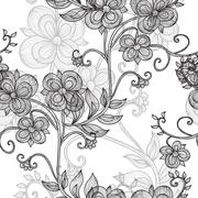 Seamless pattern with vintage flowers for invitations, cards, scrapbooking Stock Illustration