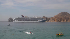 Los cabos cruise arriving Stock Footage