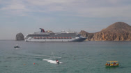 Stock Video Footage of los cabos cruise arriving