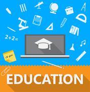 Flat illustration of education Stock Illustration