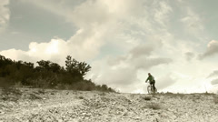 Bicycle Tour during High Mountain race Stock Footage