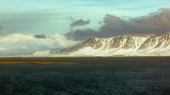 Esja Mountain landscape in Reykjavik Stock Footage