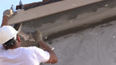 new home construction, sawing foam - stock footage