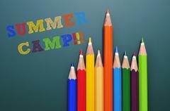 summer camp - stock photo