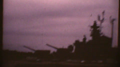 Vintage 1967, battleship USN Stock Footage