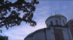 Ancient orthodox cathedral dome Stock Footage