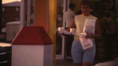 Vintage 1967, McDonalds fast food Stock Footage