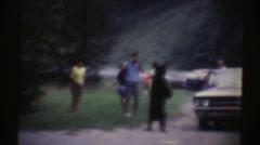 Vintage 1967, bear standing on hind legs Stock Footage