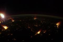 Space night NASA 4k Stock Footage