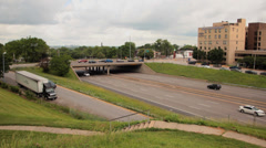 Interstate 44 time lapse STL Stock Footage