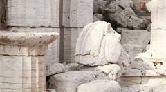 Ancient Greek Sculpture Stock Footage