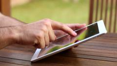 Leisure time using iPad Tablet 01 - stock footage