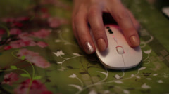 The Hand And Computer Mouse - stock footage