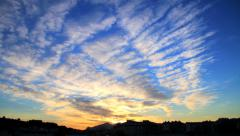 Awesome sunset colorful clouds time lapse Stock Footage