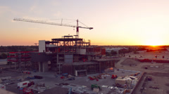 Downtown Boise Sunset and Construction Time Lapse Stock Footage