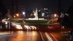 Night Time Lapse Monumento al Divino Salvador del Mundo Night Stock Footage