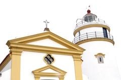 This lighthouse is the oldest in South China Coast. It is located at fort Guia,  Stock Photos