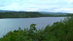 Scottish Loch on a windy cloudy day Stock Footage