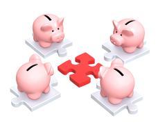 Distribution of finances Stock Illustration