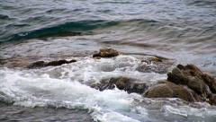 Seabed rocks in Costa Brava Girona Stock Footage
