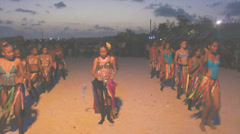 Caribbean carnival at dusk Stock Footage