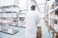 Medical factory  supplies storage indoor Kuvituskuvat