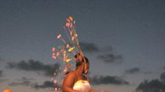 Caribbean carnival wild dance Stock Footage
