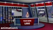 Stock After Effects of Virtual News Studio 3D Set
