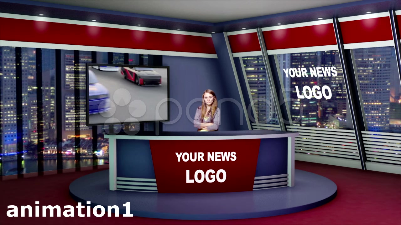 After Effects Project - Pond5 Virtual News Studio 3D Set 39384001