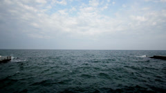 Panorama Of The Sea Stock Footage