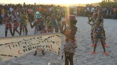 Children dancing at caribbean carnival Stock Footage