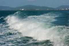 Wake of speed boat Stock Photos