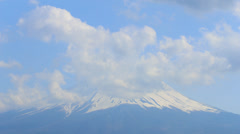 4K Timelapse view of Mt Fuji with cloudy Stock Footage