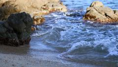 Sea Rocks in Costa Brava, Girona Stock Footage