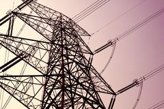 Power transmission tower on sky Stock Photos