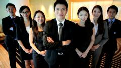 Team Successful Ethnic Asian Chinese Business People City Boardroom Stock Footage