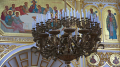 The interior of an orthodox church. 4K. Stock Footage