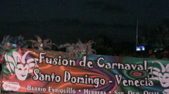Carnival fusion caribbean and venetian Stock Footage