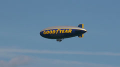 Good Year Blimp - Editorial - stock footage