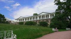 Cameron gallery. Pushkin. Catherine Park. Tsarskoye Selo. 4K. Stock Footage