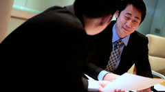 Conference Meeting Young Asian Chinese Corporate Business Team Stock Footage