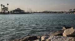 Alamitos Bay, Long Beach Seamless Loop Time Lapse Video Stock Footage