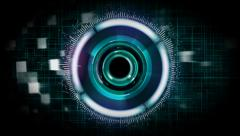 Futuristic drone security scanner animation Stock Footage