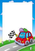 Frame with car race starter Piirros