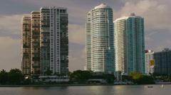 Stock Video Footage of Ocean Condominiums Miami Florida Downtown