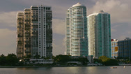 Stock Video Footage of Ocean Condominiums Miami Florida Downtown