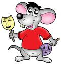Caroon mouse actor Stock Illustration