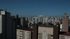View of the city. Sao Paulo, Brazil. Stock Footage