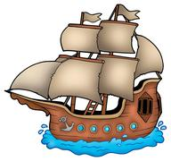 Old ship Stock Illustration